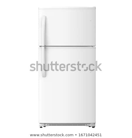 srebrny · nowoczesne · lodówka · drzwi · 3D - zdjęcia stock © shutswis