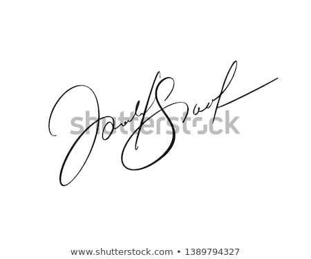 Signature Stock photo © velkol