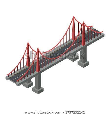 Pont soutien acier structure concrètes colonne Photo stock © marekusz