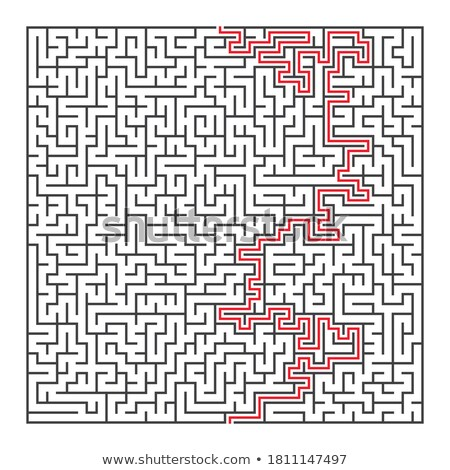 Maze puzzle solved	 Stock photo © 4designersart