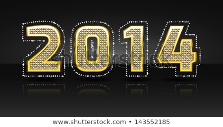 vector diamond 2014 text stock photo © elisanth