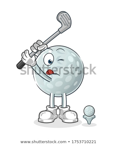 Cartoon Golf Ball Character Stock photo © fizzgig