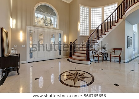 márvány · lépcsőház · lépcsősor · luxus · előcsarnok · fal - stock fotó © antonihalim