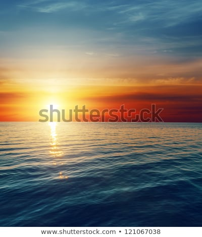 laranja · pôr · do · sol · escuro · água · abstrato · paisagem - foto stock © mycola