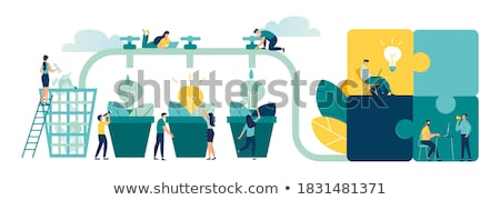 happy business team with green light bulb business concept stock photo © kirill_m