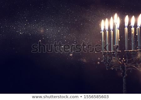 Velas dinheiro fogo feliz luz vela Foto stock © denisgo
