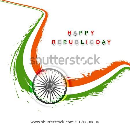 Indian banderą elegancki fali tricolor twórczej Zdjęcia stock © bharat