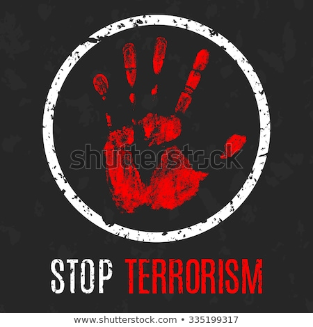 stoppen · terrorisme · gedetailleerd · illustratie · Rood · teken - stockfoto © lemonti