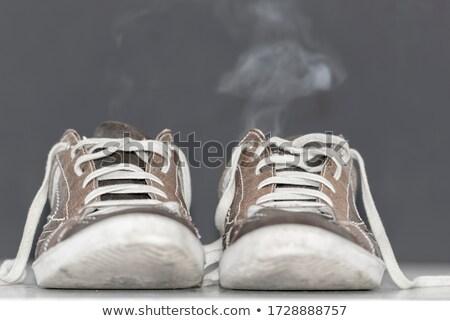 Kettő cipők fotó fehér láb házasság Stock fotó © Marfot