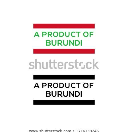Burundi vermelho carimbo isolado Foto stock © tashatuvango