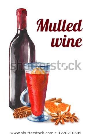 Bottle cap mulled wine Stock photo © Ustofre9