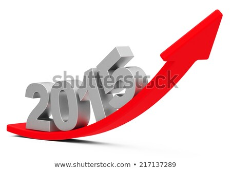 Groei grafiek 2015 hand tekening jaar Stockfoto © ivelin