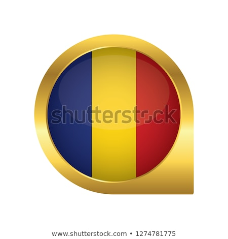 Yalıtılmış Romanya harita işaretleyici pin web tasarım Stok fotoğraf © speedfighter