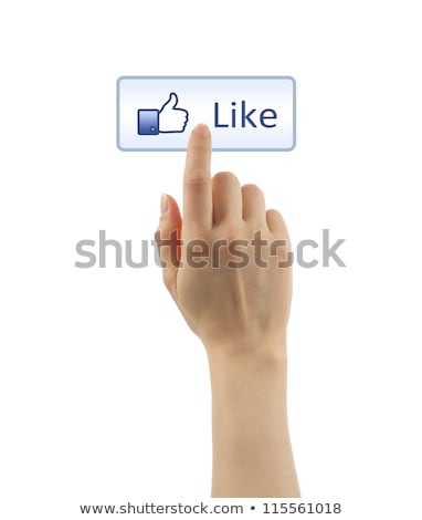 Hand zoals knop Blauw internet Stockfoto © fantazista
