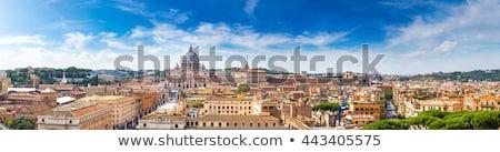 красивой Панорама Ватикан Италия Рома небе Сток-фото © tannjuska