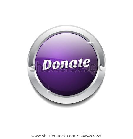 Doar roxo vetor ícone botão internet Foto stock © rizwanali3d