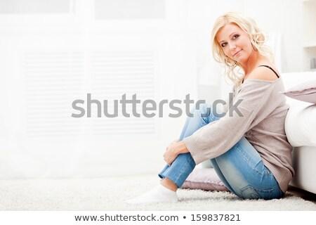 szczęśliwy · student · dziewczyna · relaks · liceum · młodych - zdjęcia stock © deandrobot