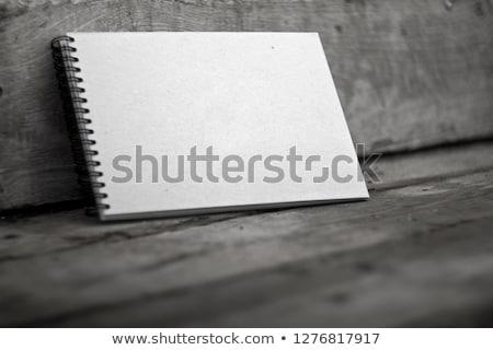 открытых · спиральных · ноутбук · изолированный · серый - Сток-фото © axstokes
