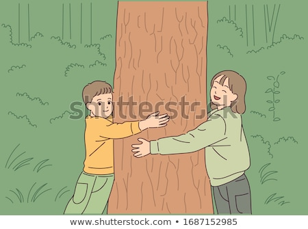 Young woman hugging a tree. Stock photo © kasto