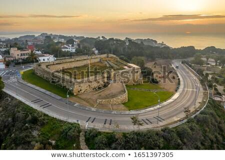 alvenaria · Espanha · velho · pedra · paredes · stonewall - foto stock © nito