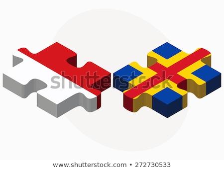 Indonézia szigetek zászlók puzzle izolált fehér Stock fotó © Istanbul2009