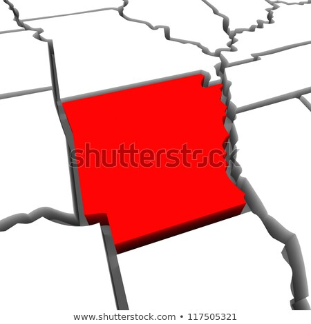Arkansas AR Red 3d USA State Map Stock photo © iqoncept