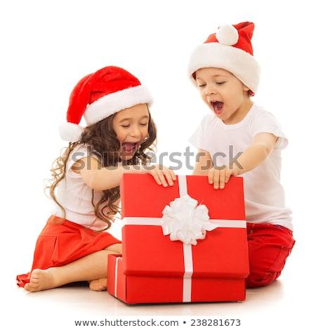 かなり サンタクロース 少女 開設 ギフト 白 ストックフォト © wavebreak_media