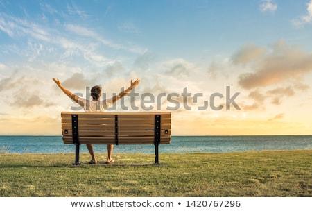 Jonge man gevoel gratis park man natuur Stockfoto © wavebreak_media