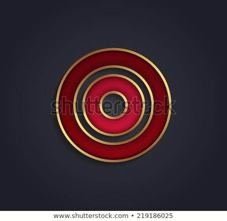 Gyönyörű vektor grafikus rubin ábécé arany Stock fotó © feabornset