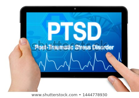 ptsd on the display of medical tablet stock photo © tashatuvango