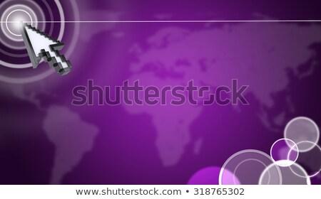Kursor faktyczny fioletowy streszczenie ekranu Zdjęcia stock © cherezoff