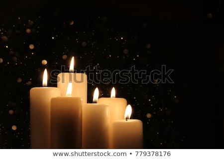 candles burning at a cemetery stock photo © smuki