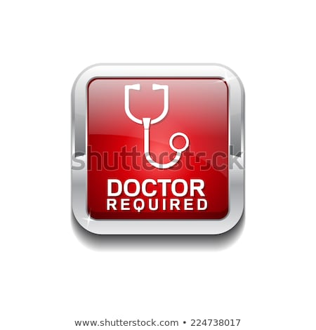 Doctor Required Red Vector Icon Button Stock photo © rizwanali3d