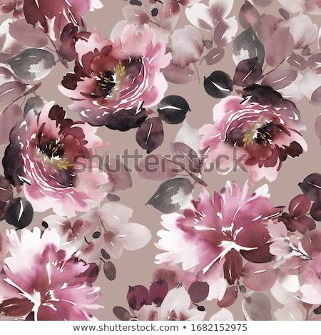 Kézzel készített szövet végtelenített virágmintás minta virág Stock fotó © tarczas