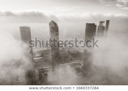 Financial district in black and white Stock photo © rmbarricarte