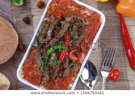 Fegato salsa di pomodoro pollo cena pranzo pasto Foto d'archivio © Digifoodstock