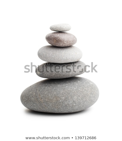 Stock photo: Balanced pebbles isolated