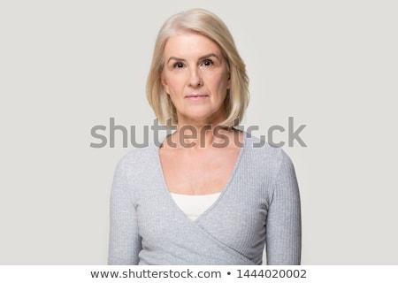 肖像 深刻 ブロンド 女性 女性 空 ストックフォト © majdansky