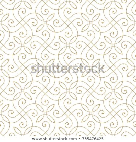 senza · soluzione · di · continuità · floreale · ornamento · pattern · fiori · foglie - foto d'archivio © olgaaltunina