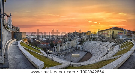 Roman amphitheatre Plovdiv Stock photo © vilevi