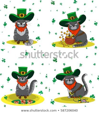 mice on St. Patrick's hat stock photo © adrenalina