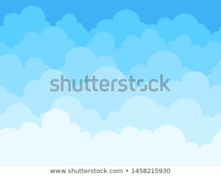 Seamless background design with fluffy clouds Stock photo © bluering