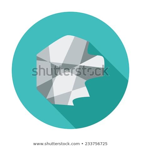 Creazy paper flat icon Stock photo © smoki