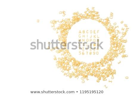 Alphabet pasta Stock photo © Digifoodstock