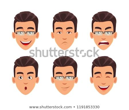 man face expression set Stock photo © Kurhan
