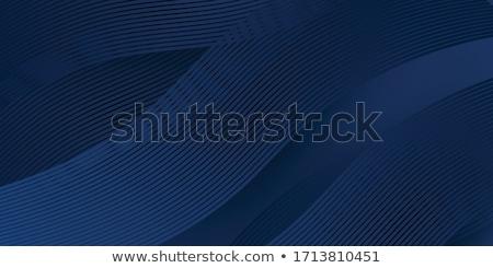 Stockfoto: Abstract · vector · futuristische · golvend · Blauw · lijnen