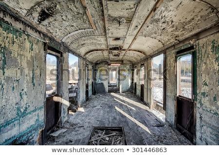 старые · поезд · автомобилей · ретро - Сток-фото © njnightsky
