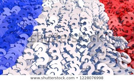 不確実性 フランス語 投票 選挙 質問 赤 ストックフォト © Lightsource