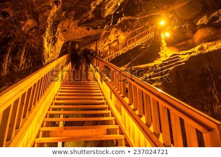 古い 塩 鉱山 階段 カバー 壁 ストックフォト © mady70