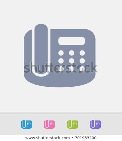 Téléphone granit professionnels icônes pixel Photo stock © micromaniac